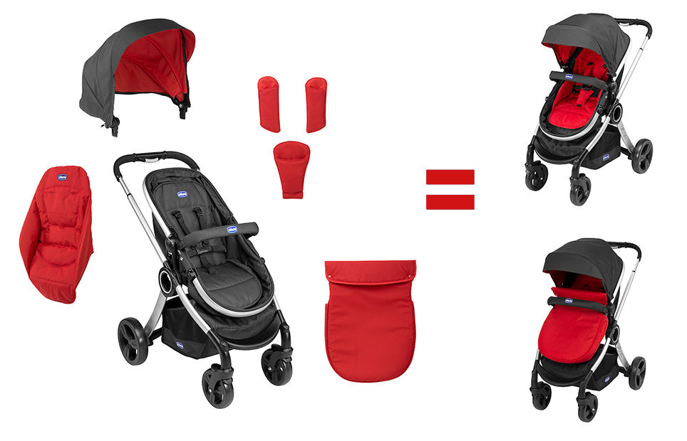 Chicco Urban 2-in-1 sport babakocsi (Red Wave) - Brumi Maci Bababolt fd12f254cb